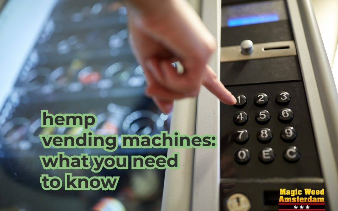 Legal cannabis vending machines: What you need to know